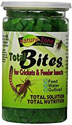 Nature Zone SNZ54511 Feeder Insects Total Bites Soft Moist Food with Spirulina, 10-Ounce