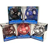 "Comfort Zone CZHV4BX 4"" Adjustable Assorted Colors High Velocity Cradle Fan"