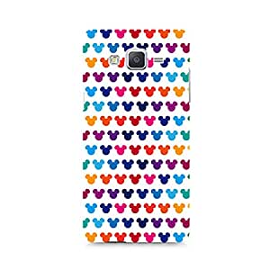 Motivatebox - Mickie Mulitcolor on White Samsung Galaxy E7 cover - Polycarbonate 3D Hard case protective back cover. Premium Quality designer Printed 3D Matte finish hard case back cover.