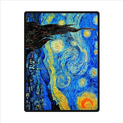 Vincent Van Gogh Starry Night Fleece Blankets And Throws 58 X 80 Inch (Large)