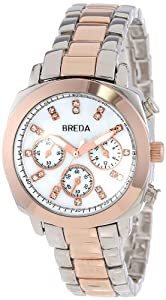 Breda Women's 5199-twotonerose Hilary Modern Oversized Cushion Style Metal Watch