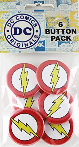 Button set DC Comics Originals Flash Logo 6 Individual Loose Buttons, 1.25""