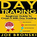 Day Trading: A Basic Guide to Crash It with Day Trading Audiobook by Joe Bronski Narrated by Mark Shumka