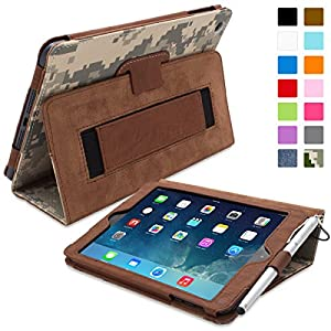 Snugg iPad Mini & Mini 2 Case - Smart Cover with Flip Stand & Lifetime Guarantee (Camo Leather) for Apple iPad Mini & Mini 2 with Retina