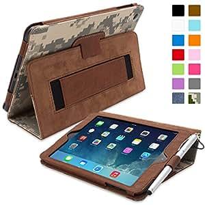 Snugg Étui Pour iPad Mini & Mini 2 - Smart Cover Avec Support Pied Et Une Garantie à Vie (En Cuir Camouflage) Pour Apple iPad Mini & Mini 2