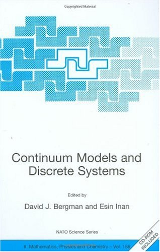 Continuum Models and Discrete Systems (Nato Science Series II:)