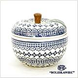 [Zaklady Ceramiczne Boleslawiec/ザクワディ ボレスワヴィエツ陶器]リンゴのポット12.5cm-922 ポーリッシュポタリー