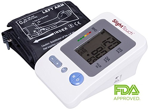 Slight Touch FDA Approved Fully Automatic Upper Arm Blood Pressure Monitor ST-401