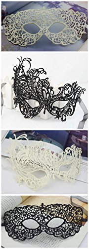 Lace Mask Hollowed-out Venetian Masquerade Parties Sexy Retro Half Face 4 Pack