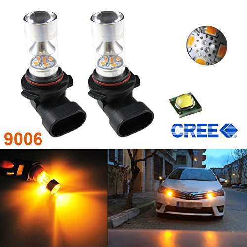 Xotic Tech (2) Yellow 3000K 100W CREE 9006 HB4 LED Bulbs For Fog Lights Driving Lamps (Amber Fog Lights 9006 compare prices)