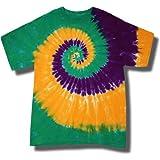 Tie Dye Mania Mardi Gras Swirl Tie-Dye Short Sleeve T-Shirt
