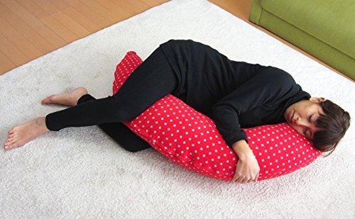 マルチに使える ベビー&ママクッション シムス 抱き枕 授乳 お座りサポート (限定レッド(パイル))