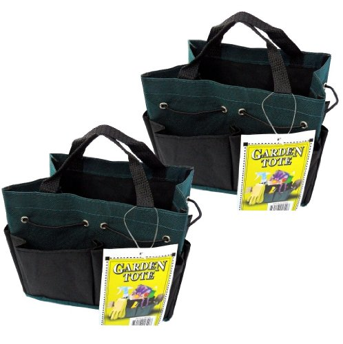 2-pack Mini Garden Tote Canvas Bags with Four Pockets - Use