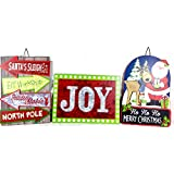 Christmas Wall Decorations Set Of 3