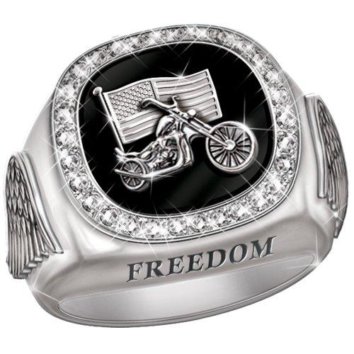 Men's Diamond Custom Biker Ring - size 13