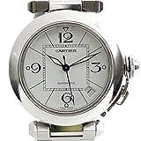 カルティエ CARTIER パシャC W31074M7 白文字盤 自動巻き SS レディース メンズ 腕時計 化粧箱 クリーニングセット付き 中古