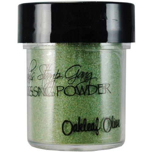 Lindy's Stamp Gang 2-Tone Embossing Powder, 0.5-Ounce Jar, Oak Leaf Olive
