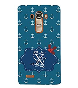 EPICCASE Blue Anchor Mobile Back Case Cover For LG G4 (Designer Case)