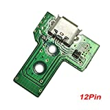 EWC - USB Charging Port Charger Socket Board for Sony PS4 3rd Generation Controller 12 Pin Cable (JDS-030)