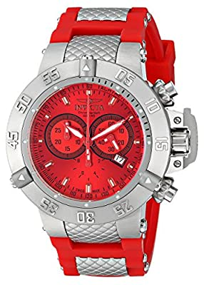 Invicta Men's 1379 Subaqua Noma III Chronograph Red Dial Watch
