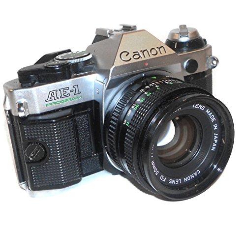 Best Deals! Vintage Canon AE-1 Program 35mm SLR Camera with 50mm 1:1.8 Lens