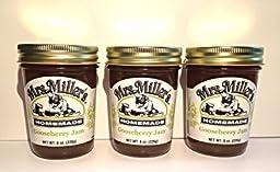 Gooseberry Jam: 3 jars Mrs Millers Homemade