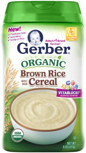 Gerber Baby Cereal, Organic Brown Rice, 8 Ounce (Organic Whole Grain Brown Rice compare prices)