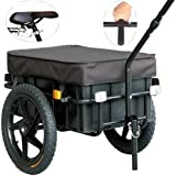 Veelar Bicycle Cargo Trailer & Hand Wagon Shopping/Utility Trailer 70 Liter Capacity-20315