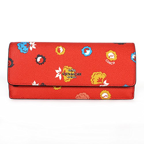 Coach 53967 Soft Wallet in Wild Prairie Print Coated Canvas