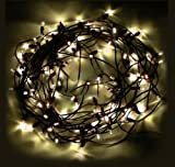 M&T Tech Solar Powered 100 LED Outdoor String Fairy Lights For Patio - Garden - Lawn - Christmas tree - Party - Wedding-Warm White