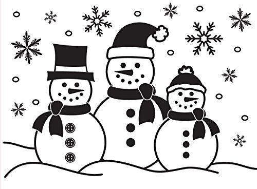 Snowman Family Embossing Folder