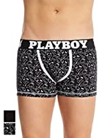 Playboy Pack x 2 Bóxers Easy Patt (Negro / Blanco)