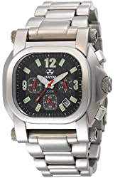 REACTOR Men's 79001 Photon Chronograph Carbon Fiber Dial Stainless Steel Watch