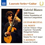 img - for GUITAR RECITAL / GABRIEL BIANCO by JOHANN KASPAR MERTZ/ JOHANN SEBASTIAN BACH/ NIKITA KOSHKIN [Korean Imported] (2009) book / textbook / text book