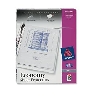 Avery  Economy Clear Sheet Protectors, Acid Free, Box of 50 (74090)