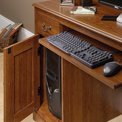 Sauder Camden County Computer Desk With Hutch Planked