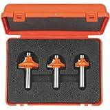 CMT 838.501.11 3-Piece Roundover Bit Set, 1/2-Inch Shank, Carbide-Tipped