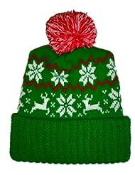 Sweater Reindeer Snowflake Beanie Christmas