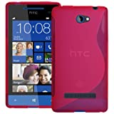 Pink S Curve XYLO-GEL Skin / Case / Cover for the HTC 8S Windows Mobile Phone.