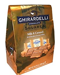 Ghirardelli Milk and Caramel Chocolate Squares 20.75 Oz Bag