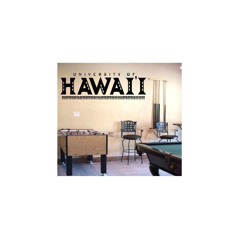 Ncaa Wall Mural Vinyl Sticker Sports Logos Hawaii Warriors (S261)