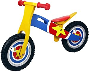 Captain America Kids / Boys / Girls Wooden Balance Bike Scooter First Ride Training Learning Bicycle Cycle