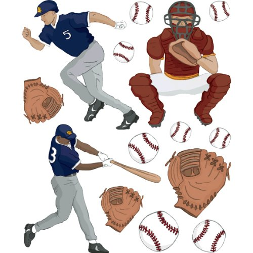 Instant Murals Baseball Wall Transfer Stickers - Sports Player