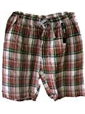 Mens Striped/Checked Shorts Woven Polycotton Spring Summer Loungewear