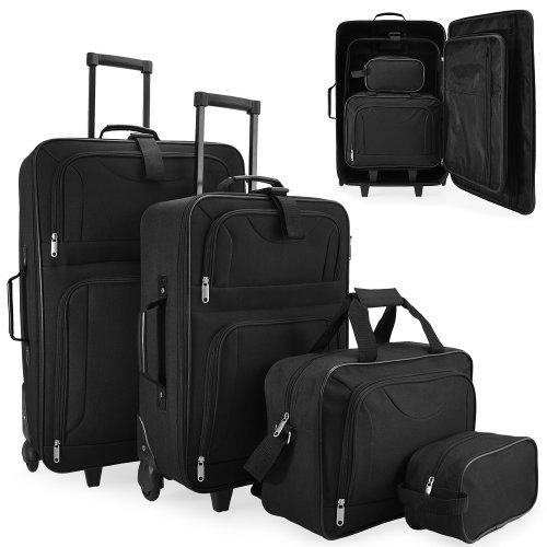 Set-di-Valigie-Trolley-da-Viaggio-Serie-di-4-valigie