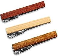 3 Pc Skinny Wood Tie Bar Clip Set, 1….
