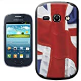 Fancy A Snuggle Union Jack of Great Britain England Flying Design Hard Case Clip On Back Cover for Samsung Galaxy Fame S6810