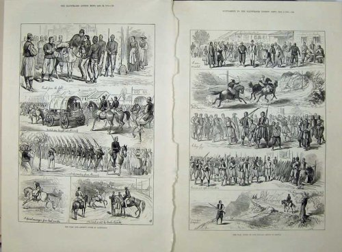 1876 War Alexinatz Turkish Spies Army Volunteers Ta