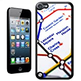 Close Up Tube Map Leicester Square, London Hard Case Back Cover For Apple iPod Touch 5th Generation