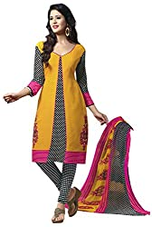 VSS Collections Women's Synthetic Unstitched Dress Material(1054,Multi-Color)